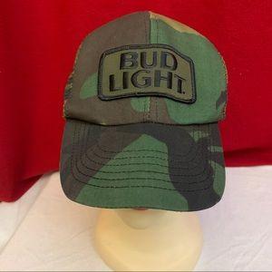 Bud Light Camouflage Adjustable Baseball Cap